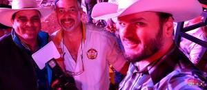 Eu, Garça e Nox em Osasco no último rodeio que trabalhei com ele / Foto: Fernando César Nox