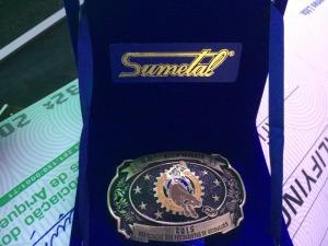 Fivela Sumetal para o campeão
