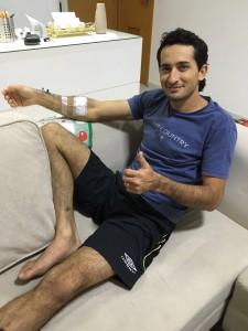 Edevaldo se recuperando em casa / Foto: divulgação
