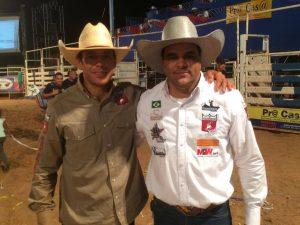 Rodrigo e eu na arena de Mirante